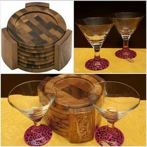 Other - Wine glass & coaster set